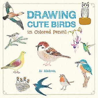 Rita söta fåglar i Färgat ritstift