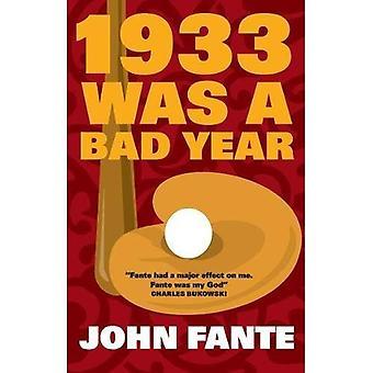 1933 a été une mauvaise année