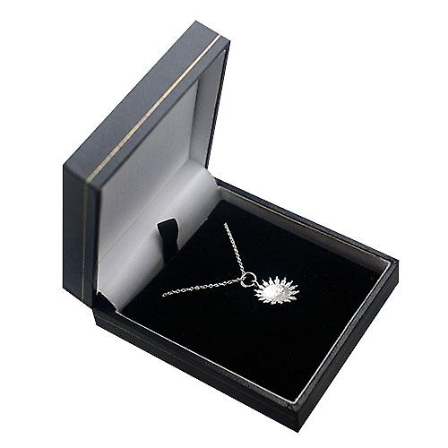 Silver 15mm face of the sun smile Pendant with a rolo Chain 16 inches Only Suitable for Children