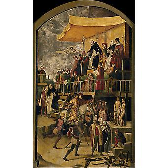 St.Dominic Pardons a Heretic,Pedro Berruguete,60x40cm
