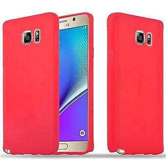 Cadorabo Hülle für Samsung Galaxy NOTE 5 - Handyhülle aus TPU Silikon im Candy Design - Silikonhülle Schutzhülle Ultra Slim Soft Back Cover Case Bumper