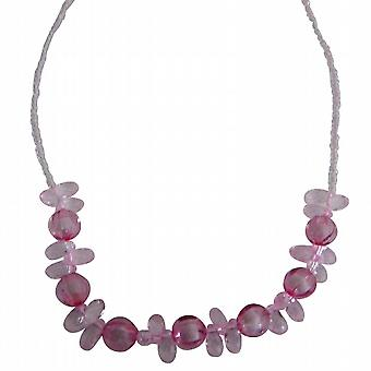 Funky Pink Beads Necklace For Young Girls Gift
