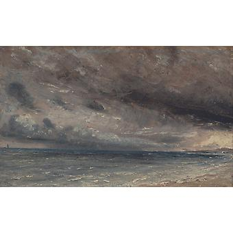 Stormy Sea,John Constable,60x36cm