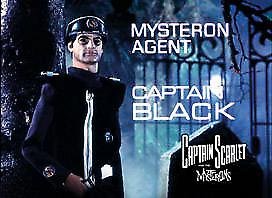 Captain Black (from Capt. Scarlet) steel fridge magnet  (sd)