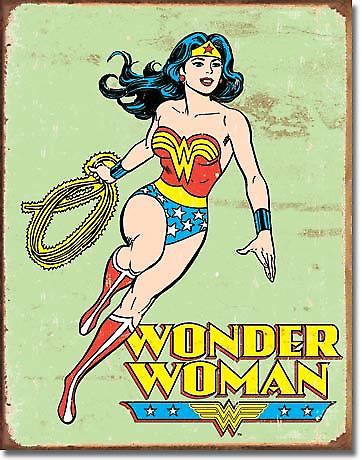 Wonder Woman retro metal sign  (ga)