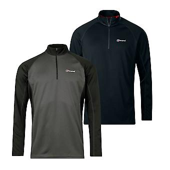 Berghaus Tech 2.0 1/2 Zip Mens Long Sleeve Base Outdoor T-Shirt