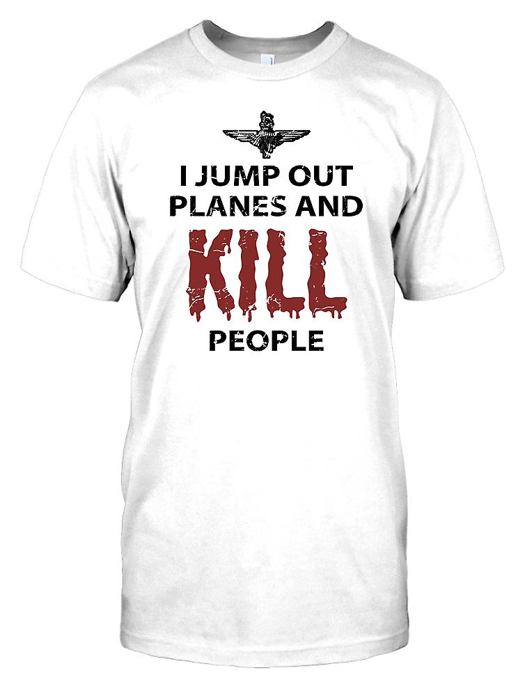 I Jump Out of Planes and Kill People - Parachute RegiKidst Kids T Shirt