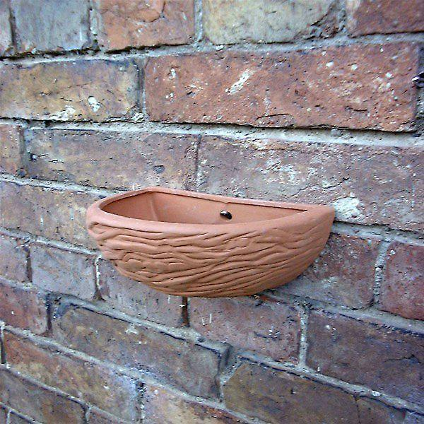 Terracotta Swallows Nest Wallpot