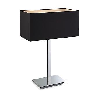 Firstlight-1 ljus bords lampa polerad S/stål, svart-8329BK