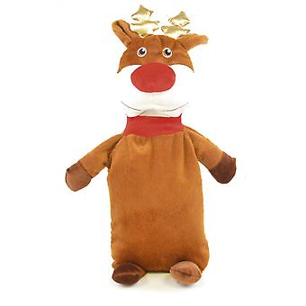 Kids 3D Novelty 750ml Plush Hot Water Bottle: Reindeer