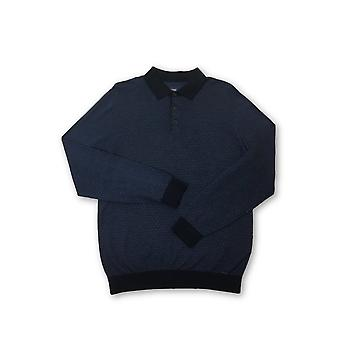 Olyp Casual knitwear in blue geoetric pattern