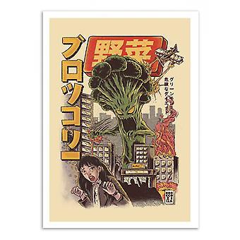 Konst affisch-Broccozilla-Ilustrata 50 x 70 cm