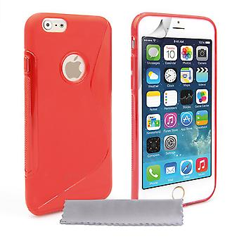 Caseflex iPhone 6 and 6s Silicone Gel SLine Case Red