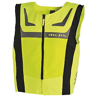 Richa Fluorescent Yellow Mesh Motorcycle Safety Vest