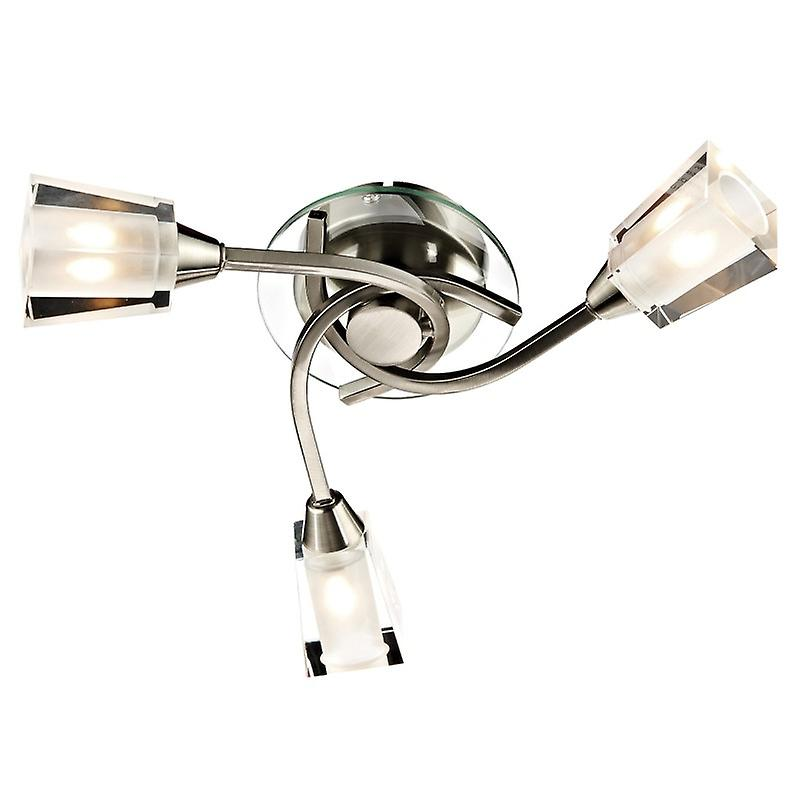 Austin 3 lumière Semi Flush Satin Chrome