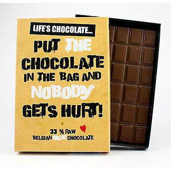 Grappige boxed chocolade citeer cadeau voor mannen vrouwen beste vriend wenskaart voor hem of haar LC102