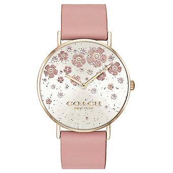 Coach | Perry | Blush Leather Strap | Floral Glitter Dial | 14503325 Watch