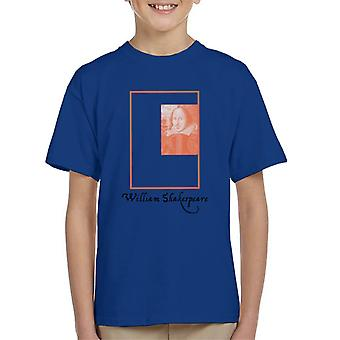 A.P.O.H William Shakespeare Box Portrait Kid's T-Shirt