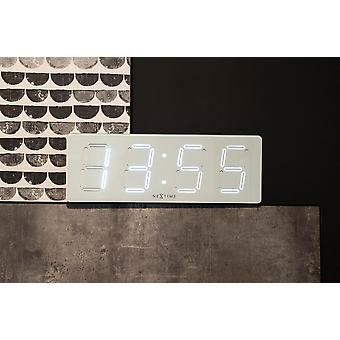 NeXtime - Wall/ table clock – 51.5 x 18x 4.5 cm - Plastic - White - 'White D'