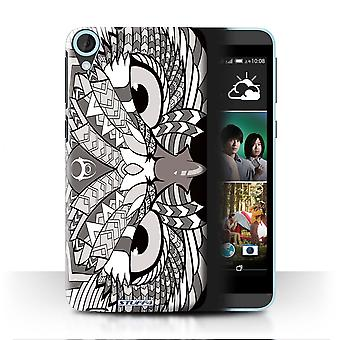 STUFF4 Case/Cover for HTC Desire 820q Dual/Owl-Mono/Aztec Animal
