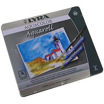 Lyra Aquacolor Watersoluble Crayons 24 Pkg 5611240