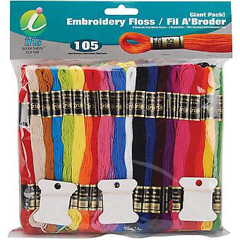 Embroidery Floss Giant Pak 8 Meters 105 Pkg 1265