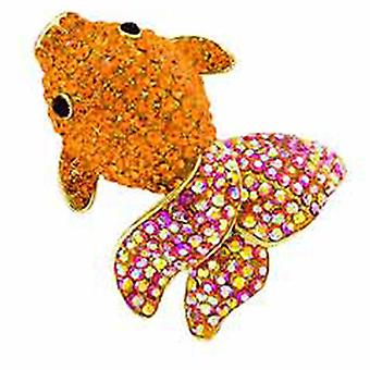 Butler and Wilson Goldfish Orange Brooch