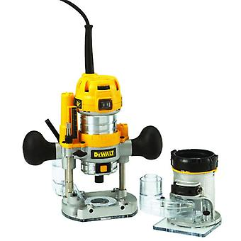 DEWALT D26204K 8mm duik & vaste Base 2-in-1 Router Kit 110v