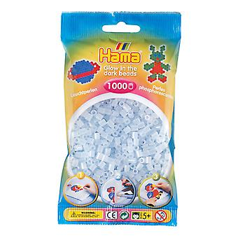 Hama Strijkkralen - Blauw Glow In The Dark (057), 1000st.