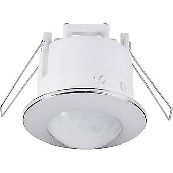 Ceiling, Recess-mount PIR motion detector Renkforce 1289331 360 ° Relay Chrome IP20