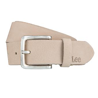 Lee belts men's belts leather belts, beige 3974