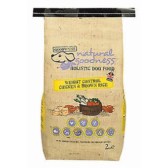Goodwyns vægtkontrol komplet kylling & brune ris 2kg