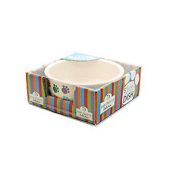 Paw Print Ceramic Dish Dog/cat 13cm