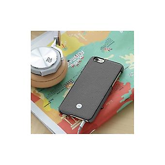 Just Mobile Quattro Back-Exquisite leather case For iPhone 6S-GREY