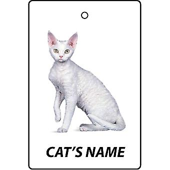 Personalised Devon Rex Cat Car Air Freshener