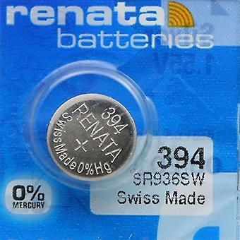 Renata 1.55 Volt Watch Battery 394 Replaces - Pack of 10 (SR936SW)