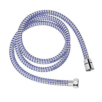 Long Color Changing Shower Bath Hose Chrome Blue and Red 150cm Invena