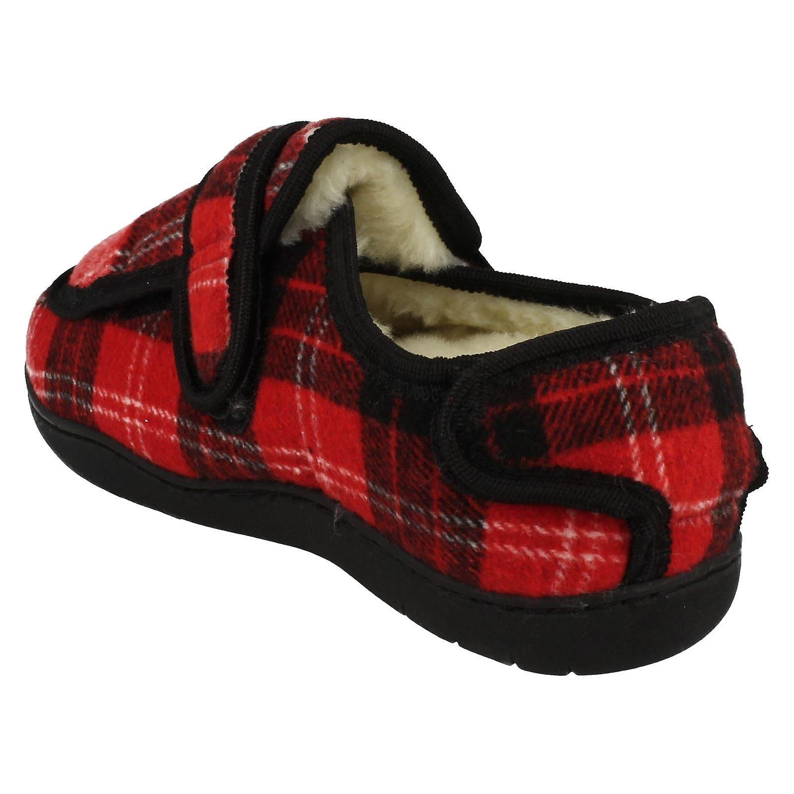 Ladies Spot On Memory Foam Wide Fitting Slippers CT-16002
