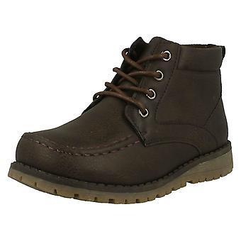 Boys JCDees Casual Lace Up Ankle Boots N2040