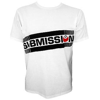 Indsendelse skrå Logo T-Shirt-hvid