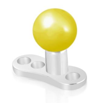 Micro-Dermal Anchor Top Implant Piercing, Body Jewellery | Gold Plated Ball
