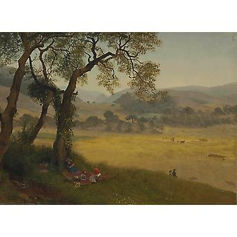 Albert Bierstadt - A Golden Summer Day Near Oakland Poster Print Giclee