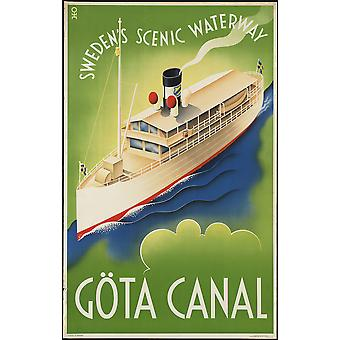 Swedens Scenic Waterway Gota Canal Poster Print Giclee
