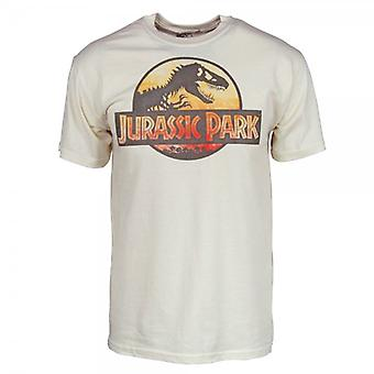 Jurassic Park Mens Jurassic Park T Shirt Natural