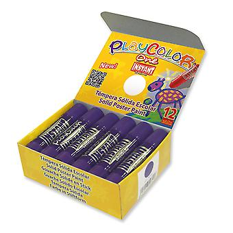 Playcolor Basic One 10g Solid Poster Paint Stick (Pack of 12 - Purple)