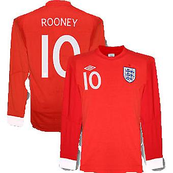 2010-11 Inghilterra World Cup manica lunga maglia Away (Rooney 10)