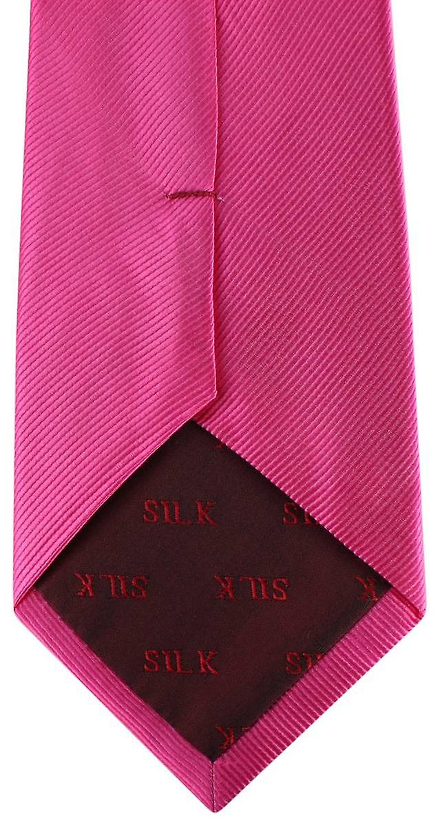 David Van Hagen Diagonal Ribbed Tie - Fuchsia