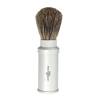Edwin Jagger Pure Badger Travel Shaving Brush Silver 81M530