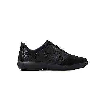 Women's Nebula Textile Slip On Trainers - Black