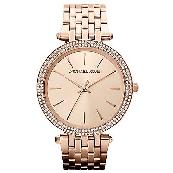 Michael Kors MK3192 Rose Gold Plated Darci Crystal Dial Chronograph Women's Ladies Wrist Watch